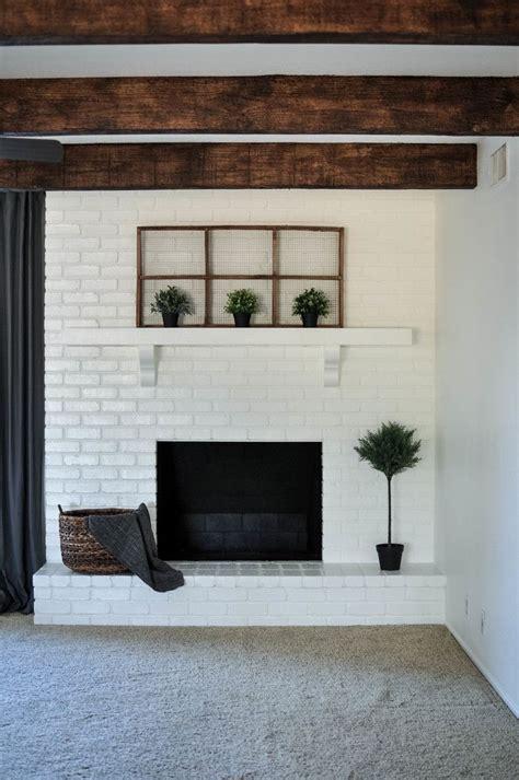 diy paint brick fireplace brick fireplace