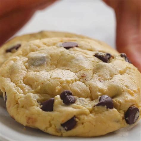 chocolate chip cake mix cookies recipe tasty
