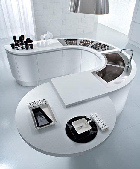 pin interiors curved kitchen island contemporary kitchen design
