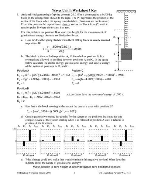 waves unit worksheet 3 key
