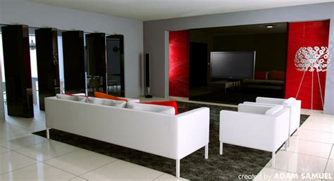 amazing ideas decorating living room red grey wall