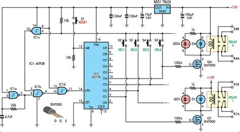 push button relay selector wiring diagram