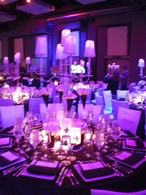 blue purple white wedding