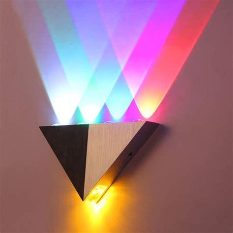 modern triangle 5w led wall light fixture interior