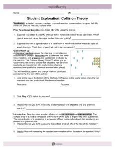 collision theory gizmo