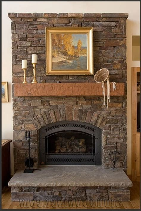 decoration alluring stacked stone elightful fireplace