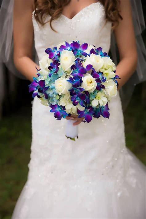 wedding bouquet blue white flower bouquet wedding wedding