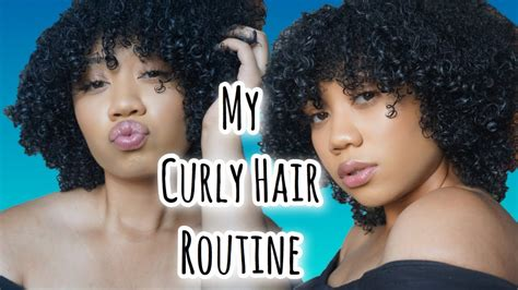 hair curly hair routine youtube