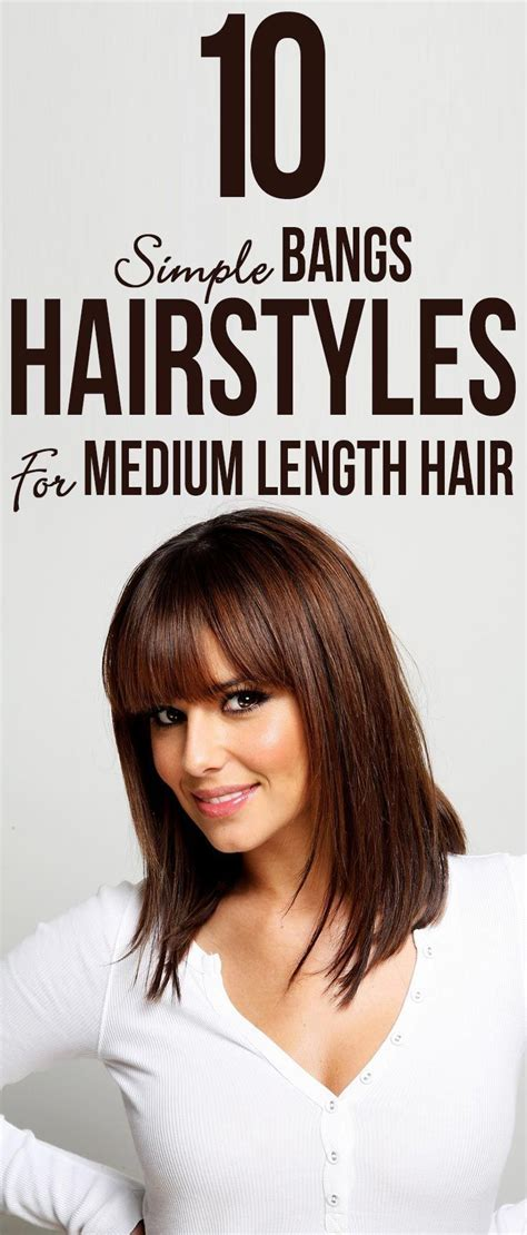 20 incredible medium length hairstyles bangs myfashionos