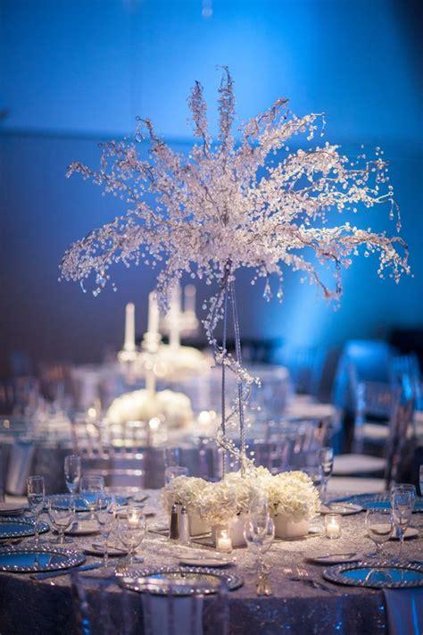 white silver blue winter wonderland wedding la carte