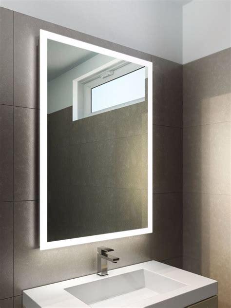 square edge lit mirror master bath vanity bathroom
