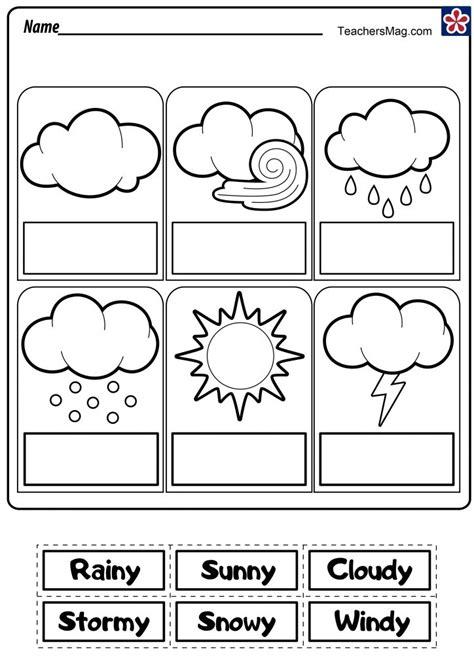 weather worksheets teachersmag