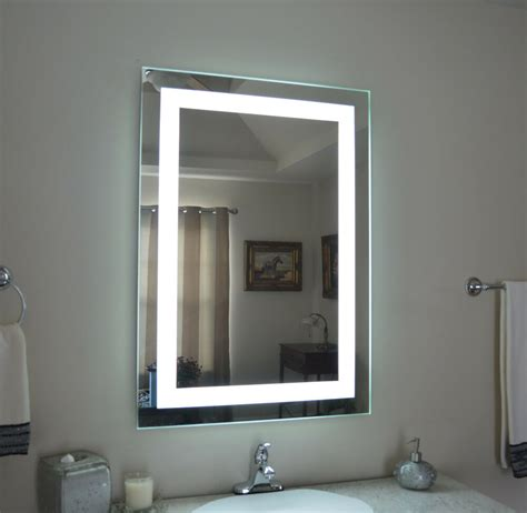 lighted bathroom vanity mirror led lighted wall mounted