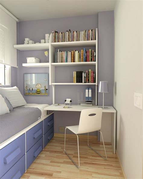 illustration simple small bedroom desks small
