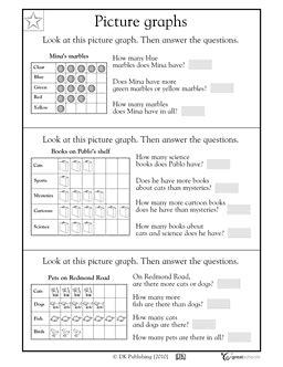 2nd grade 3rd grade math worksheets reading bar