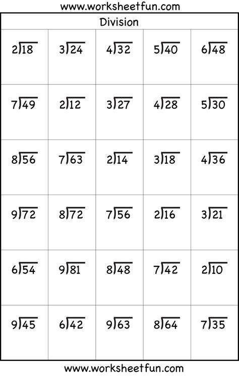 division worksheets 3rd grade math easy long remainders