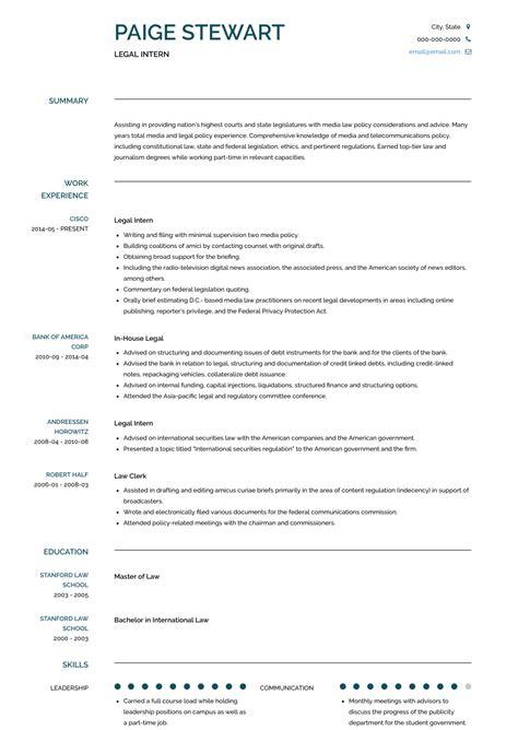 legal intern resume sle resume marketing jobs work