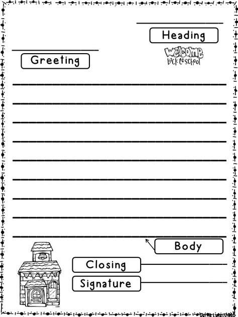 school friendly letter fun teach review revisit friendly