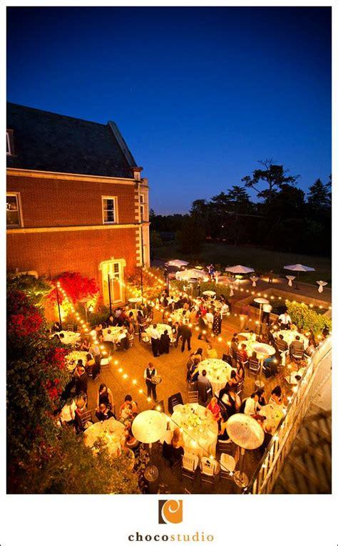 outdoor evening wedding reception kohl mansion burlingame dusk