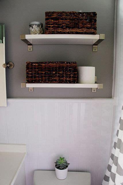 remodelaholic bathroom redo grouted peel stick floor tiles