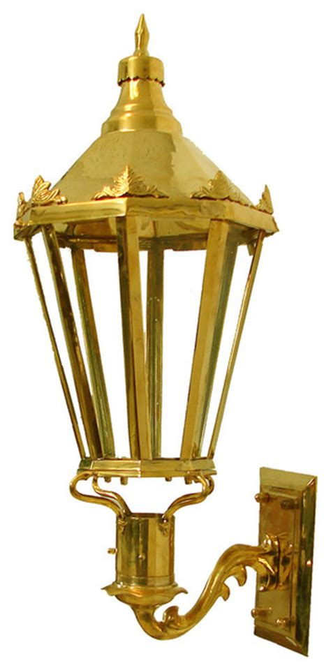 grande dame lantern polished brass wall mount natural