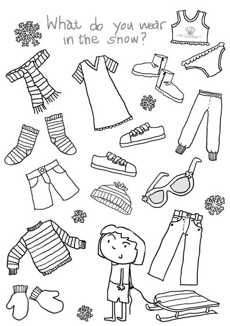 january coloring pages images winter activities preschool clothing