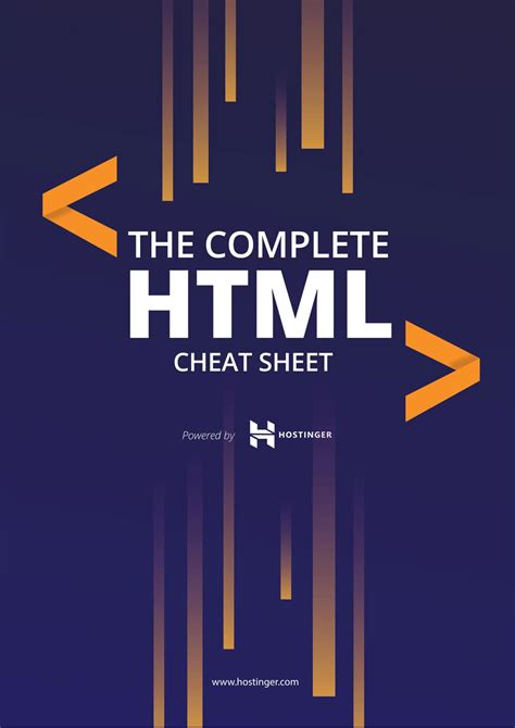 html cheat sheet 2019 html5 tags included