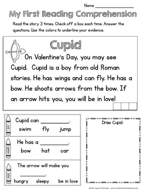 free valentine day worksheets reading comprehension worksheets reading
