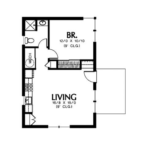 modern style house plan 1 beds 1 baths