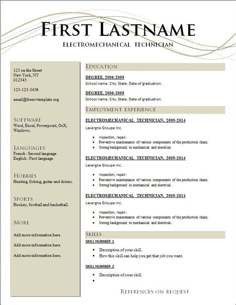downloadable free resume templates task list templates