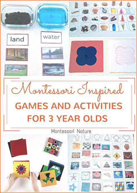 montessori inspired activities games 3 year olds montessori