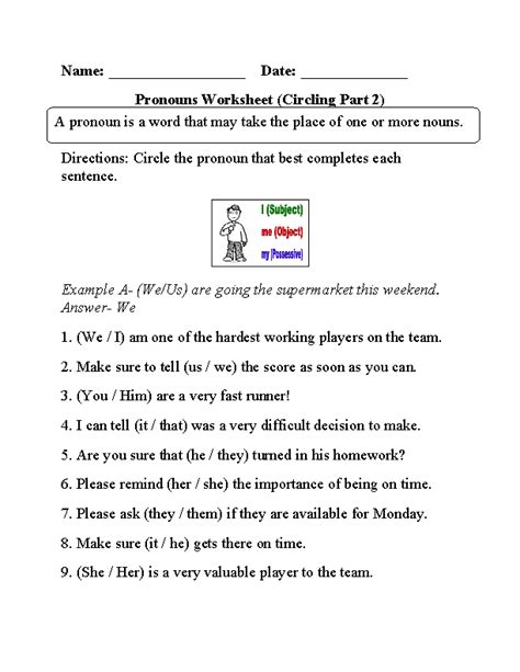 englishlinx pronouns worksheets pronoun worksheets parts speech worksheets
