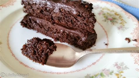healthy dark chocolate cake fudge frosting meet abigail