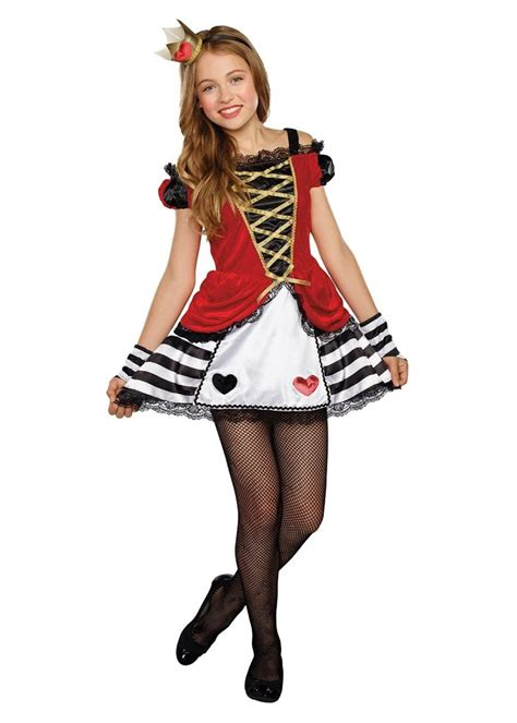 queen heart tween girls costume disney costumes