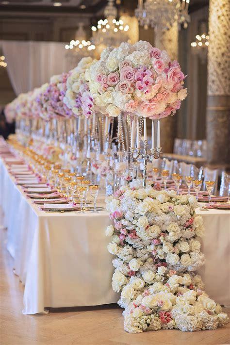 wedding ideas long reception tables belle magazine