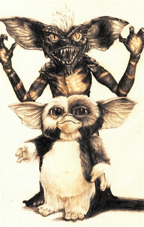 gizmo spike gremlins posters aaronbir redbubble