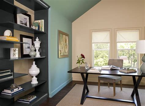 interior paint ideas inspiration green home offices cozy