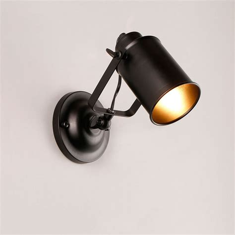 industrial wall spot light vintage metal wall mounted