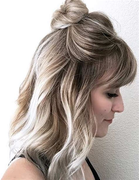 36 ideas medium length hairstyles bangs myfashionos