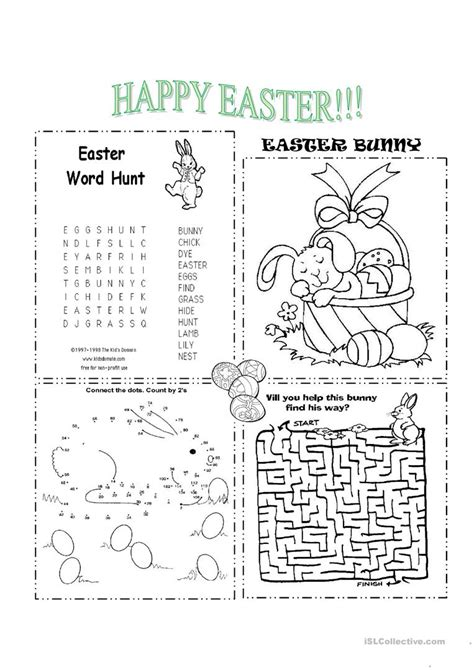 easter worksheet free esl printable worksheets teachers