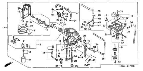 honda rancher 350 carburetor diagram honda image review