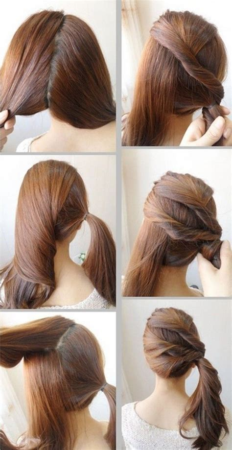 cute easy hairstyles school step step google search