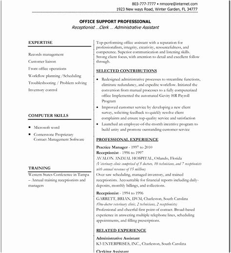 6 free cv template word document free sles