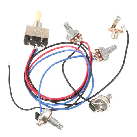 wiring harness 3 toggle switch 2v2t 500k pots