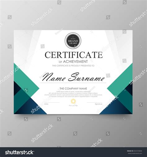 certificate premium template awards diploma background vector modern
