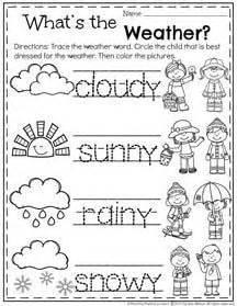 spring preschool worksheets weather worksheets
