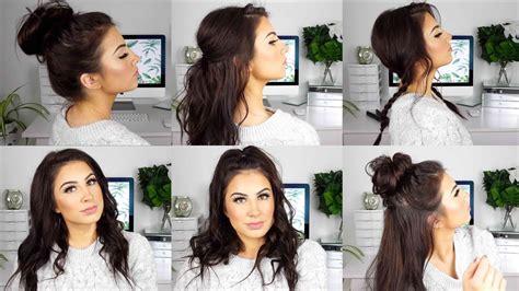 cute easy hairstyles medium thin hair youtube