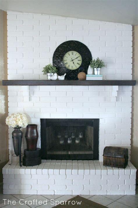 Painted Brick Fireplace Mantel