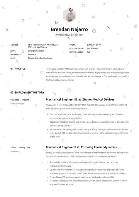 mechanical engineer resume writing guide 12 templates