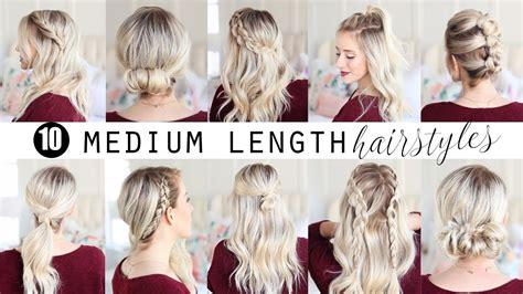 ten medium length hairstyles twist pretty youtube